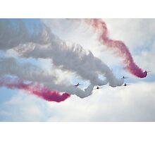 Red Arrows Over Lyme, Dorset Uk -1 Photographic Print