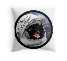Cat-astrophe! Throw Pillow