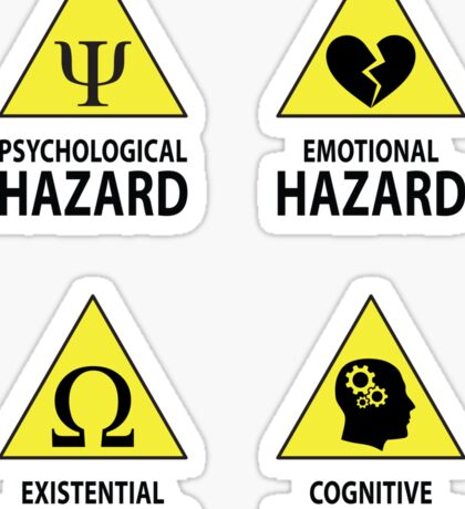 Hazard Warning Stickers Sticker