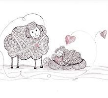 Tangled I'll Watch Over Ewe by Christianne Gerstner