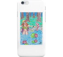Lotus girl iPhone Case/Skin