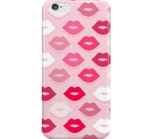 Pink Kiss Pattern iPhone Case/Skin