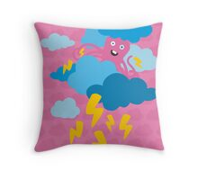 Who Makes the Thunder? - in PINK Throw Pillow