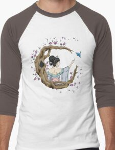Among the Blossoms. Men's Baseball ¾ T-Shirt