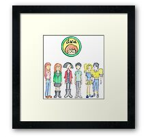Daria and Friends Framed Print