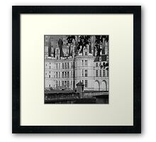 Chateau Chambord Black and White  Framed Print