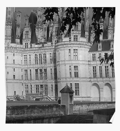 Chateau Chambord Black and White  Poster