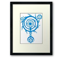 Blue Magic Circle Framed Print