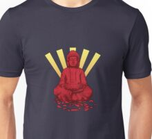 Buddha sun red Unisex T-Shirt