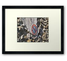 No parking Ne Pas Stationner  Framed Print