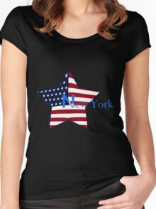 T-shirt New-York Women's Fitted Scoop T-Shirt