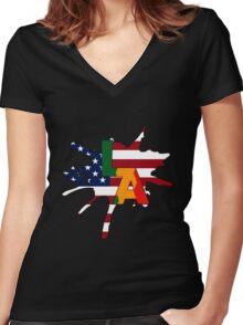 Los angeles Women's Fitted V-Neck T-Shirt