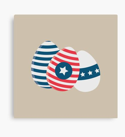 Easter eggs with stars   Canvas Print