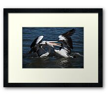 I said BACK OFF! Framed Print