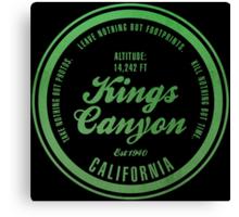 Kings Canyon National Park, California Canvas Print