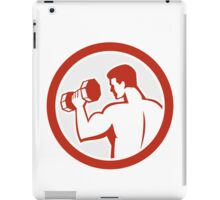 Man Lifting Dumbbell Fitness Retro iPad Case/Skin