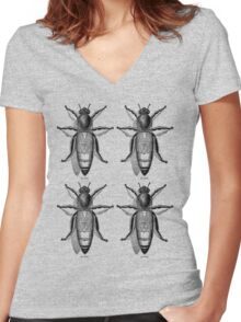 QUEEN BEES Women's Fitted V-Neck T-Shirt