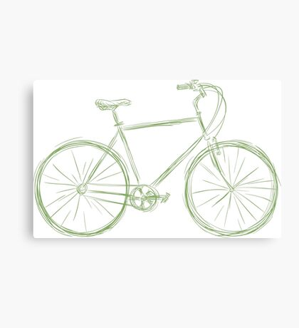 Simple bike Canvas Print