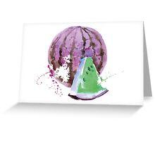 Strange Melon Greeting Card