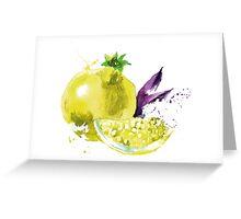 Strange Pomegranate Greeting Card