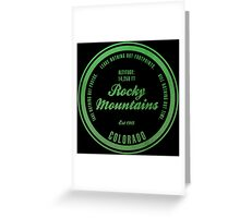Rocky Mountains National Park, Colorado Greeting Card