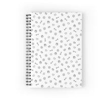 Cute valentine monochrome seamless pattern. Pretty background.  Romantic wallpaper. Spiral Notebook