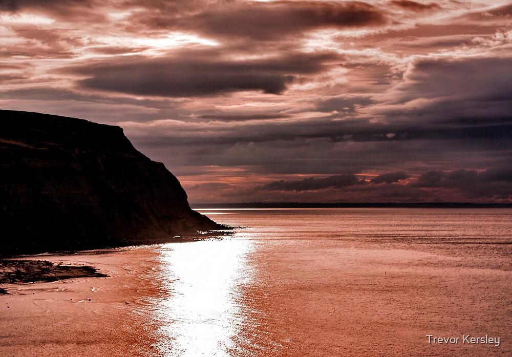 North Sea Sunset by Trevor Kersley