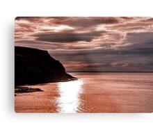 North Sea Sunset Metal Print
