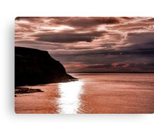 North Sea Sunset Canvas Print