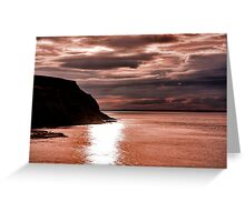 North Sea Sunset Greeting Card