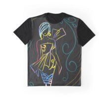 Lady Parrot Graphic T-Shirt