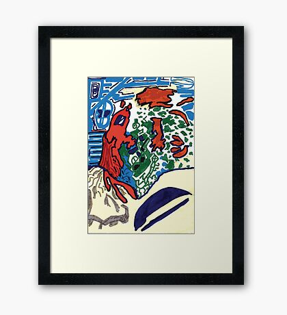 RED PuZZLE Framed Print