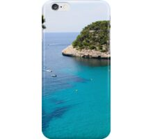 Cala Macarella bay with crystal clear azure water, Island of Menorca, Balearic Islands, Spain iPhone Case/Skin