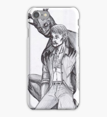 Hannibal - The wendigo and the Doctor iPhone Case/Skin