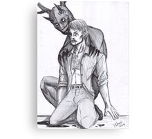 Hannibal - The wendigo and the Doctor Canvas Print