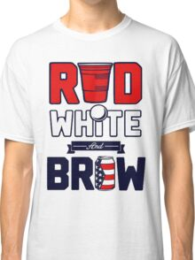 RED-WHITE-BREW Classic T-Shirt