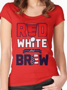 RED-WHITE-BREW Women's Fitted Scoop T-Shirt