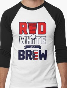 RED-WHITE-BREW Men's Baseball ¾ T-Shirt
