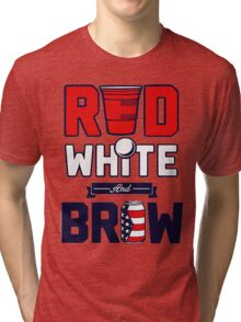 RED-WHITE-BREW Tri-blend T-Shirt