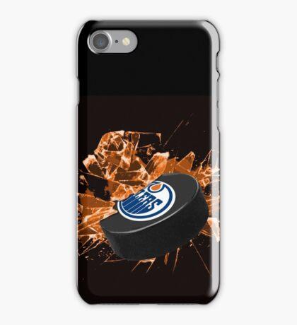 Edmonton Oilers puck iPhone Case/Skin