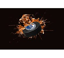 Edmonton Oilers puck Photographic Print