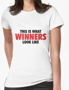 This is what Winners look like (Black Red) Womens Fitted T-Shirt