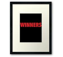 This is what Winners look like (Black Red) Framed Print