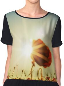 Sun drenched poppy Chiffon Top
