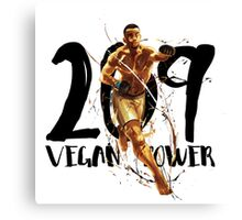 Vegan power Canvas Print