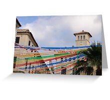 Fiesta in Mahon capital city, Menorca, Balearic islands, Spain Greeting Card