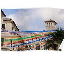 Fiesta in Mahon capital city, Menorca, Balearic islands, Spain Poster