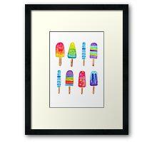 Summer Fun Ice Blocks Framed Print