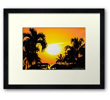 Jamaica Sunset Framed Print