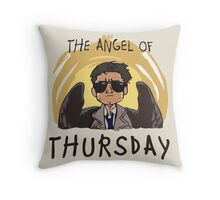 Angel of Thursday Throw Pillow